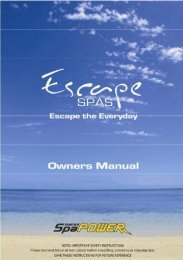 Owners manual PDF - Lifestyle Spas and Leisure