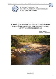 Vakarų Lietuvos upėse ir ežeruose - Aplinkos apsaugos agentūra