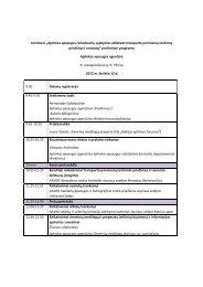 Preliminari seminaro programa - Aplinkos apsaugos agentūra