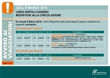 DALL'8 MARZO 2010 - Trenitalia