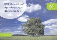 Aplinkosaugos ataskaita 2011 - omniteksas.eu