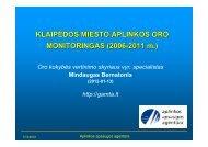 KLAIPĖDOS MIESTO APLINKOS ORO MONITORINGAS (2006 ...