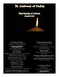 11/27/11 - St. Anthony of Padua Catholic Church