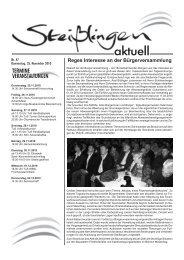 Reges Interesse an der Bürgerversammlung - Steißlingen
