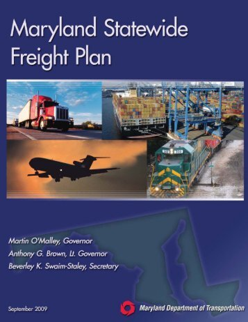Statewide Freight Plan - Maryland Department of Transportation