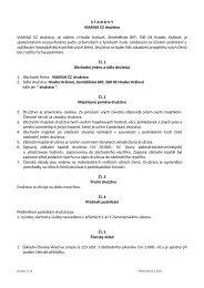 STANOVY VIAMILK CZ družstvo VIAMILK CZ družstvo, se sídlem v ...