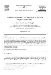 Gradient estimates for diffusion semigroups with ... - ResearchGate