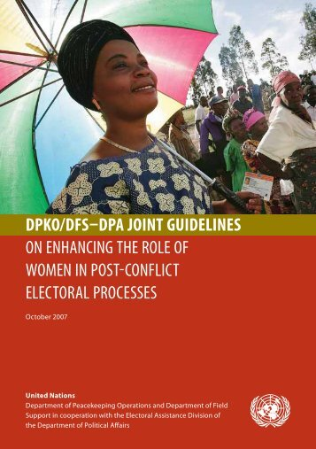 dpko/dfs–dpa joint guidelines on enhancing the role of women