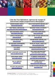 Liste des Tour-Opérateurs, agences de voyages et autocaristes ...
