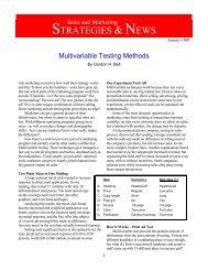 Multivariable Testing Methods