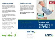 Sicherheit und Schutz in der Pflege - Anima Med