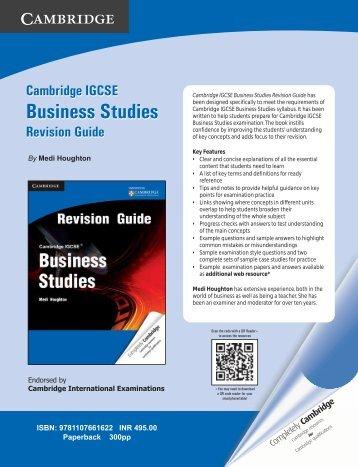 Download the Leaflet - Cambridge University Press India