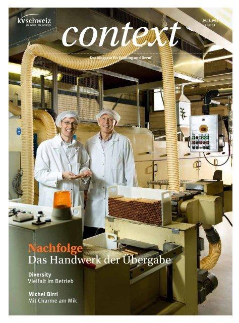 Nr. 11 / November 2012 - Nachfolge (PDF, 3996 kb) - KV Schweiz