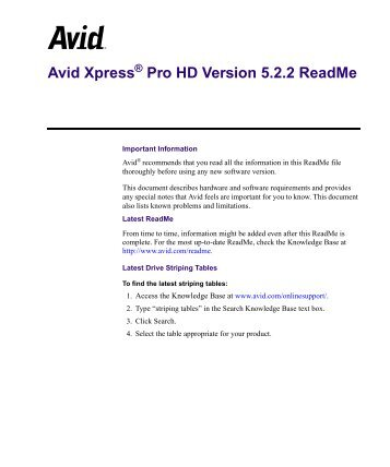 Avid Xpress Pro 5.2.2