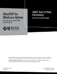 BlueCHiP for Medicare Optima - Blue Cross & Blue Shield of Rhode ...