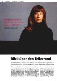 Blick über den Tellerrand - Kleiner und Bold GmbH