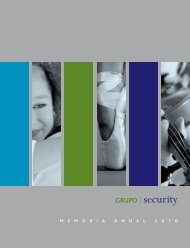 Memoria anual Grupo Security 2010 Fecha de ... - Banco Security