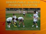deenver public schools physical education - Denver Public Schools