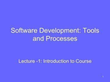 Software Development: Tools and Process - Suraj @ LUMS