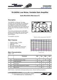 data sheet CHA2292 - Richardson RFPD