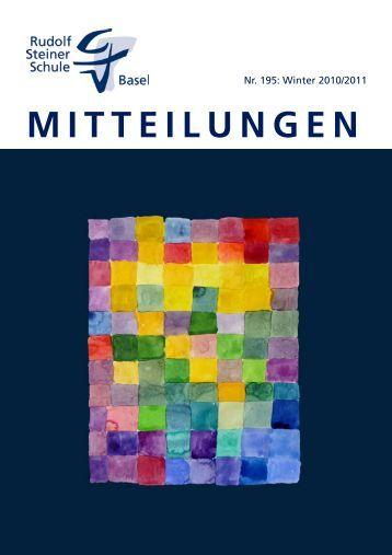 MITTEILUNGEN - Rudolf  Steiner Schule Basel