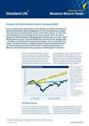 Infoblatt STANDARD LIFE Global Absolute Return Strategies