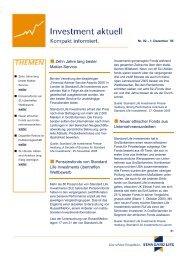Investment aktuell Nr. 2 (1. Dezember 2005) - Standard Life