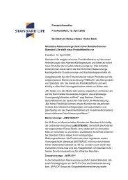 Attraktive Altersvorsorge dank hoher Renditechancen: Standard Life ...