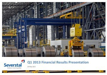 Q1 2013 Financial Results Presentation - Severstal