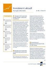 Investment aktuell Nr. 2/2006 - Standard Life