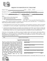 REQUEST TO PARTICIPATE ON A FIELD TRIP - Lbpxc.com