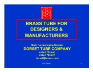Brass Tube for Designers and Manufacturers