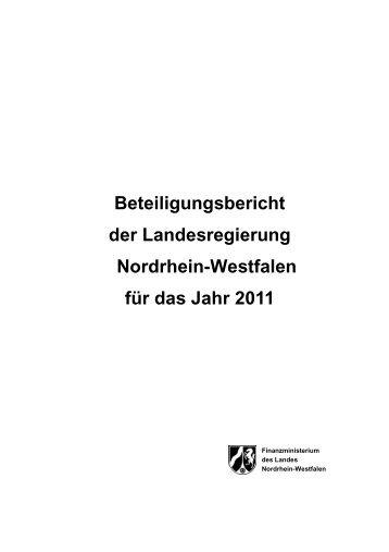 Beteiligungsbericht 2011 - Finanzministerium NRW