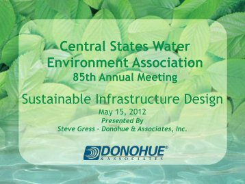 Sustainable Infrastructure Design - Central States Water ...