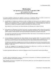 accord du 13 septembre 2000 sur la sante au travail - Ministère du ...
