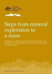 Steps from mineral exploration to a mine - National Native Title ...
