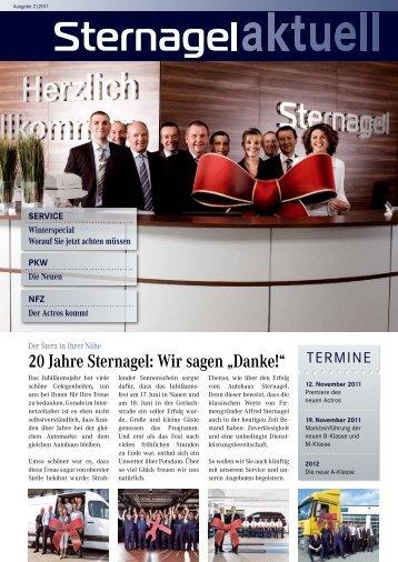 """20 Jahre Sternagel: Wir sagen """"Danke!"""" - Autohaus Sternagel GmbH"""