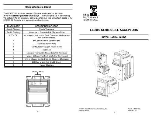 LE3800-3900-Bill-Acceptor - Vending Machines