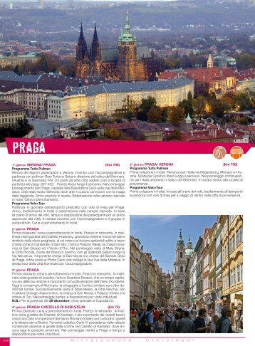 1° giorno: VERONA/ PRAGA (Km 790) Programma ... - Utat Viaggi