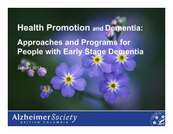 Health Promotion and Dementia: - Alzheimer Knowledge Exchange ...
