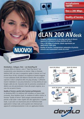 dLAN 200 AVdesk
