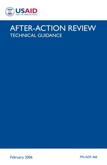 After-Action Review Technical Guidance