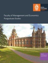 Management PG - Royal Holloway, University of London