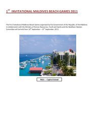 1st INVITATIONAL MALDIVES BEACH GAMES 2011 - ABBF