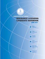 Commonwealth of virginia insurance licensing candidate handbook