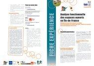 Analyse fonctionnelle des espaces ouverts d'Ile-de-France