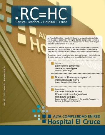 Revista Científica = Hospital El Cruce