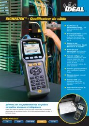 SIGNALTEK™ - Qualificateur de câble - Ideal Industries