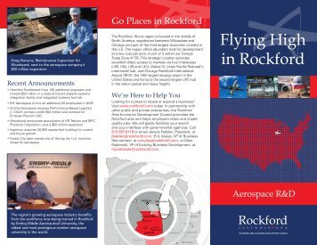Flying High in Rockford - Rockford Area Economic Development ...