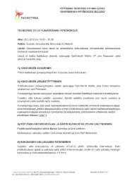 Ylimääräinen yhtiökokous 2012 pöytäkirja - Tecnotree